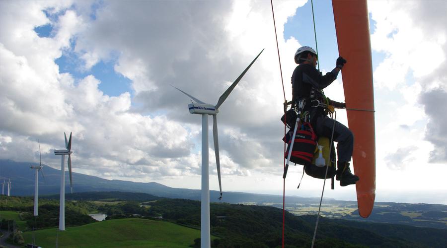 風力発電業務-ブレード調査-
