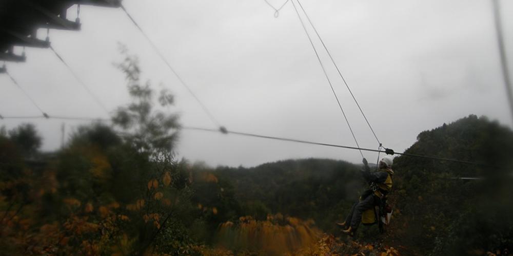 吊り橋ケーブル点検