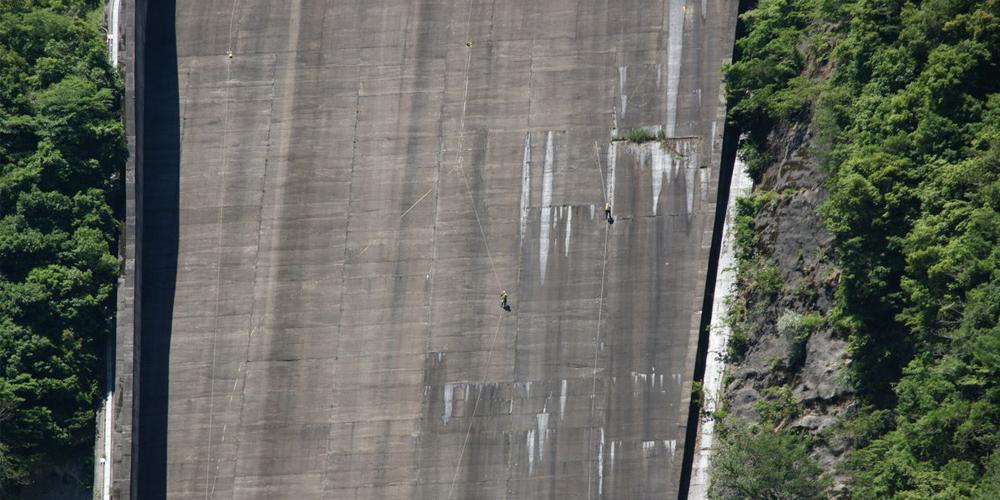 ダム洪水吐調査