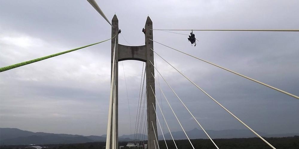斜張橋ケーブル定期点検