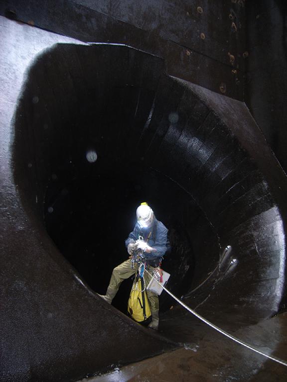 事業内容-水力発電関連業務水圧鉄管路変状調査