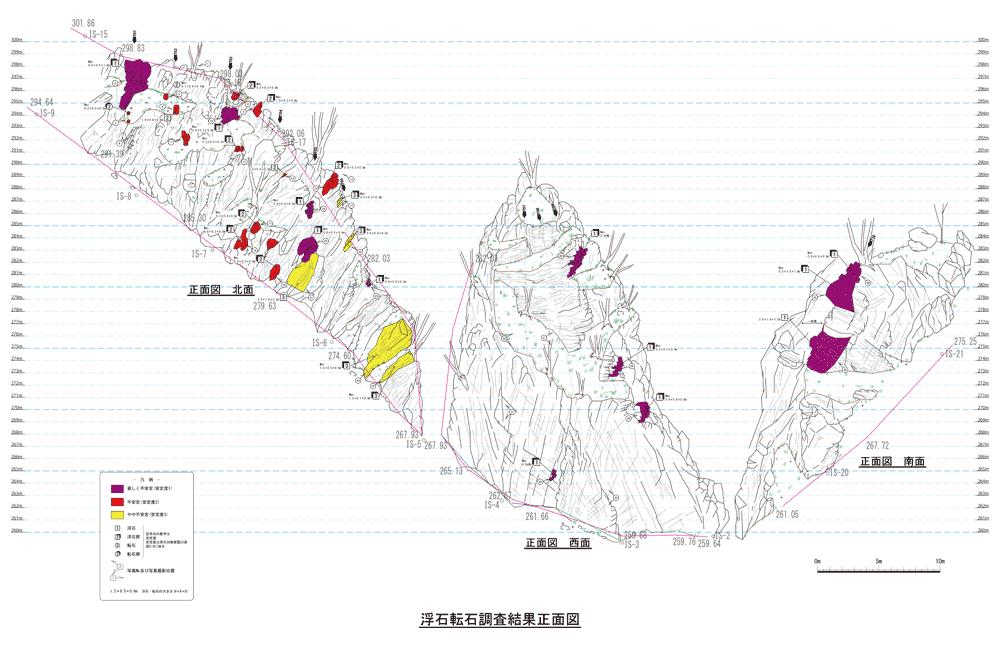 鳥瞰図-浮石・転石調査報告書サンプル