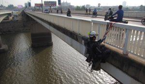 カンボジアでの橋梁点検